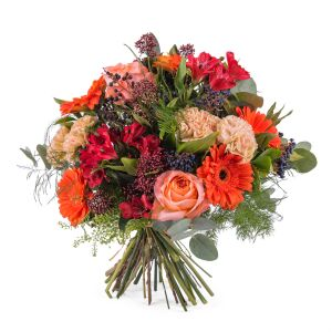 Mixed bouquet in orange shades